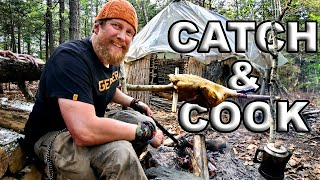 Catch And Cook Turkey Smoked And Roasted Over Fire Day 6 of 8 Maine W.L.C. /Catch And Cook Survival