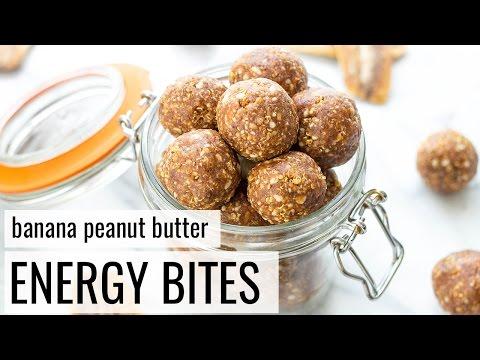 Banana Peanut Butter Energy Bites | Vegan + Gluten-Free