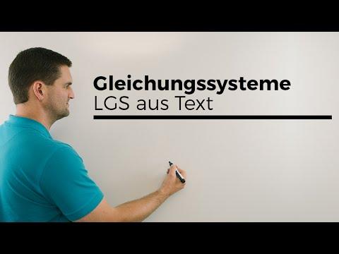 Gleichungssysteme, LGS aus Text aufstellen, Alter bestimmen, Teil 2, Mathe by Daniel Jung