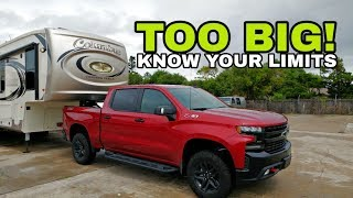 Towing RVs that are too heavy!  Better explanation and response to comments