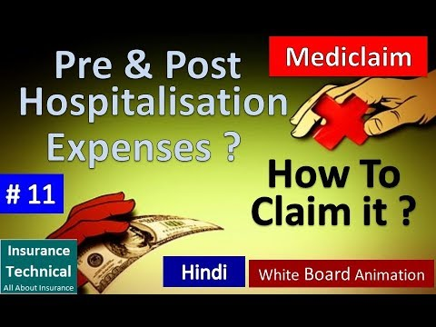 Mediclaim : Pre & Post Hospitalization Expenses  Complete Details : How To Claim It