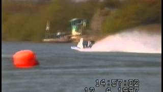 F2 Catamaran flip during race at Stewartby 1997