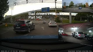 Bad Drivers in Sweden #142 Pothole slalom, reversing issues and parking hero!