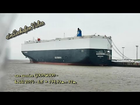 car carrier GOODWOOD D5GY7 IMO 9701140 Emden merchant vessel Autotransporter brandnew AUDI cars expo