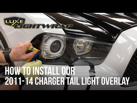 How To Install Our 2011-14 Charger Head Light Tint Overlay Kit