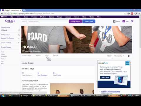 How to upload a file in Yahoo groups
