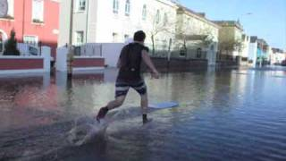 Floods in Cork 2009 - Urban Skimboarding