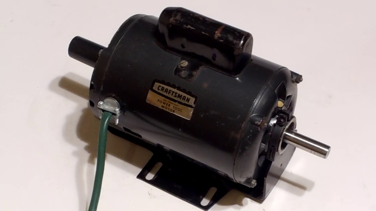 Craftsman 1hp electric table saw motor 3450rpm for Electric motor for bandsaw