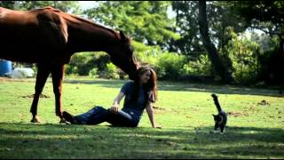 a GIRL and her HORSES ...at home at play:) Templeton Thompson/Follow You Anywhere, the REACH song:)