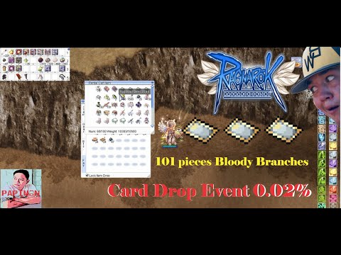IRO - Popping 101 Pieces Of Bloody Branch - Drop Card Event