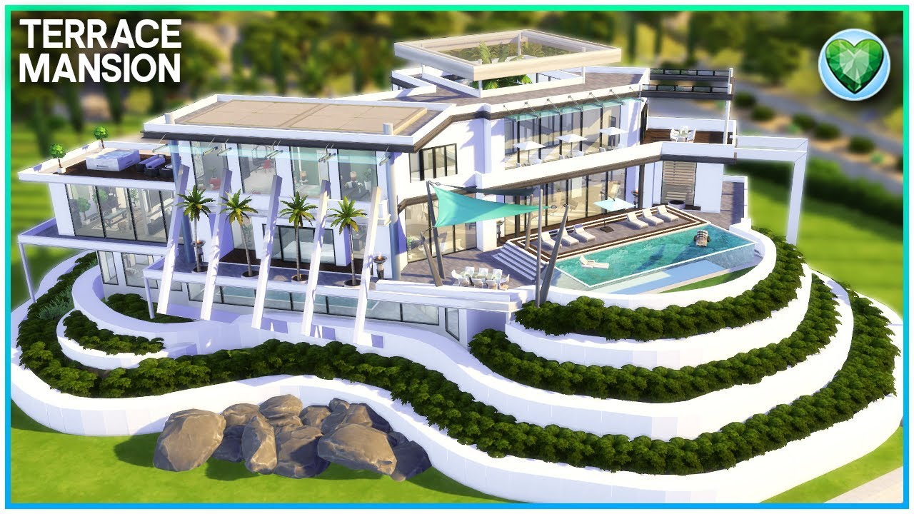 MOST LUXURIOUS MODERN MANSION💎 [NO CC] - Sims 4 Speed Build | Kate Emerald