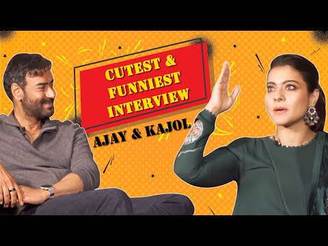 Ajay & Kajol's CUTEST & FUNNIEST INTERVIEW 😂 | Tanhaji | Mirchi Prerna