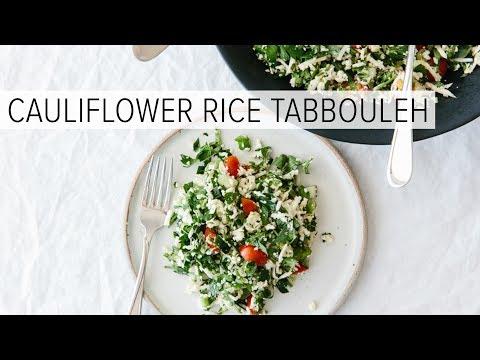 CAULIFLOWER RICE TABBOULEH   a healthy, lemony herb salad