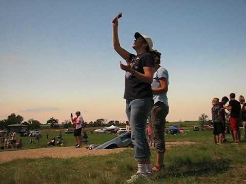 Solar Eclipse 2017 - Alliance, Nebraska at Carhenge - Our Reactions