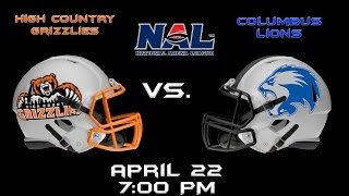 Columbus Lions vs. High Country Grizzlies