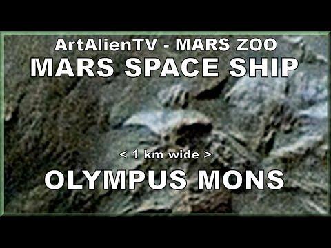 Mars Space Ship - Olympus Mons UFO: Huge 1 km Starship. ArtAlienTV - 1080p