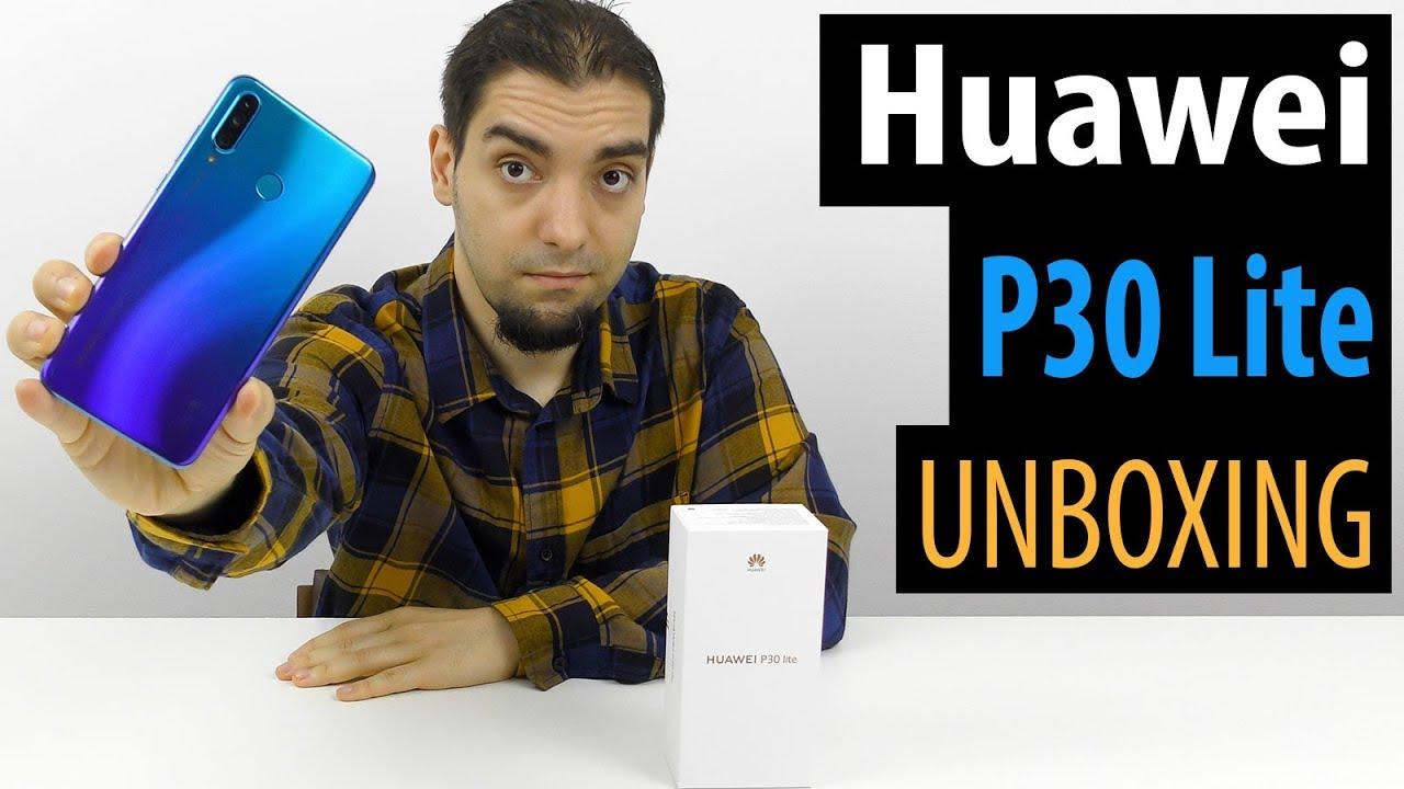 Huawei P30 Lite Unboxing în Limba Română  (Telefon midrange cu cameră triplă)