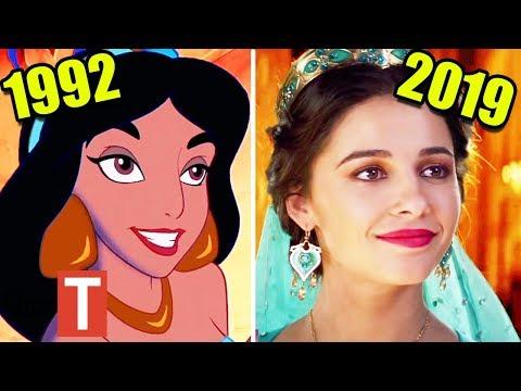 Disney's Aladdin Live Action 2019 vs Original 1992 Cartoon Comparison