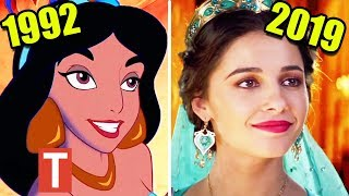 Disney's Aladdin Live Action 2019 vs Original 1992 Cartoon Comparison