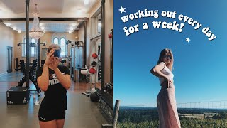 WORKING OUT EVERYDAY FOR A WEEK + how i got abs! my workout routine 2019