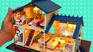 DIY Miniature Dollhouse Mansion Disney Princess Aurora Sleeping Beauty