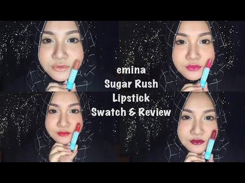 affordable-drugstore-lipstick-|-emina-sugar-rush-lipstick-swatch-&-review-|-bahasa-indonesia