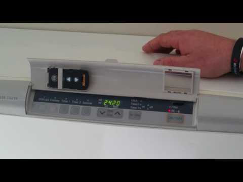 How to operate the control panel on a Rinnai Energysaver gas heater