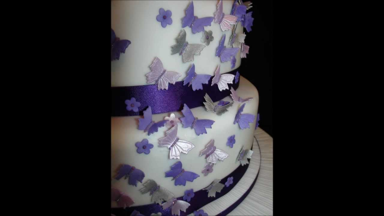 Butterfly Wedding Cake   YouTube Butterfly Wedding Cake