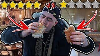 Worst Reviewed Food (1 STAR) VS. Best Reviewed Food (5 STAR) | BEST vs WORST Reviewed Sandwich!!