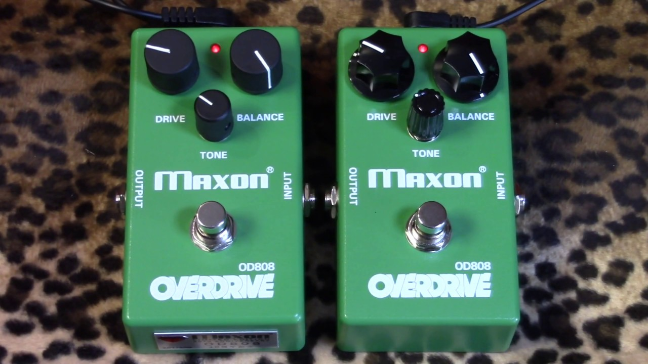 Maxon 40th Anniversary OD808 versus Stock Version tubescreamer pedal  shootout