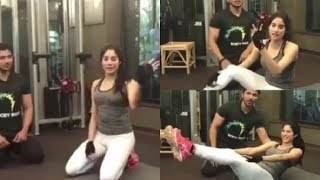 Sridevi's Daughter Jhanvi Kapoor Workout For Dhadak Movie