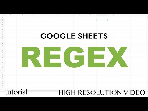 Google Sheets - RegEx REGEXEXTRACT, Functions Exctract, Replace, Match Tutorial - Part 1
