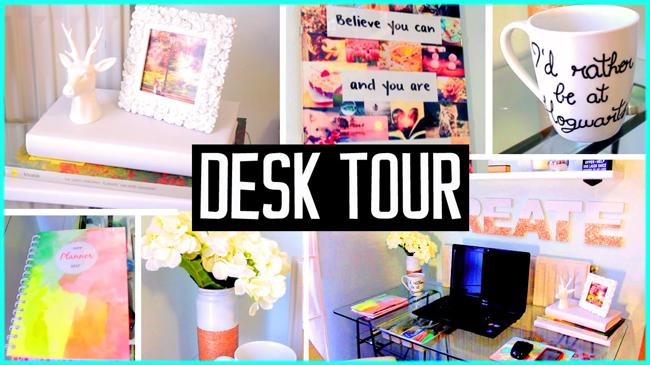 desk tour what 39 s in my desk diy decor organization ideas youtube. Black Bedroom Furniture Sets. Home Design Ideas