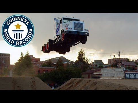 Longest ramp jump by a truck - Guinness World Records