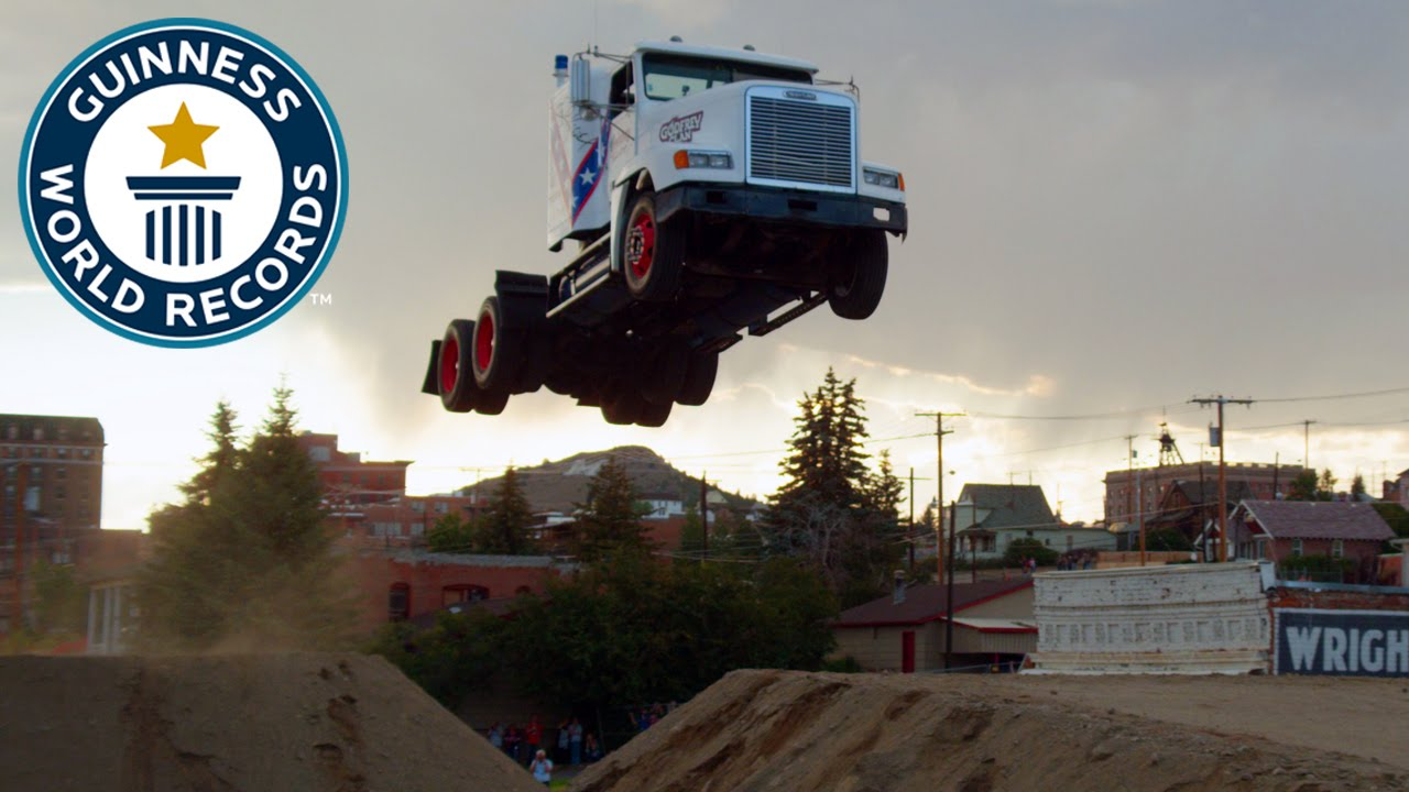 Download Longest ramp jump by a truck - Guinness World Records