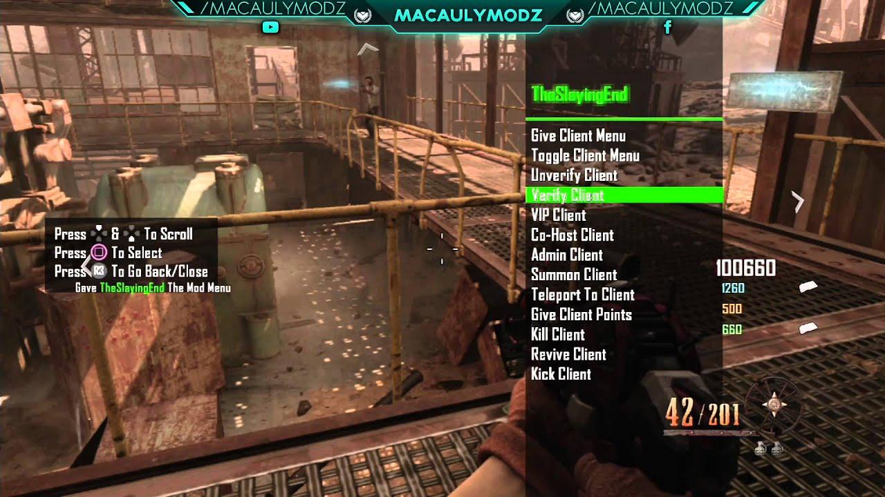 Black Ops 2 119 Conversion V1 Zombies Mod Menu PS3