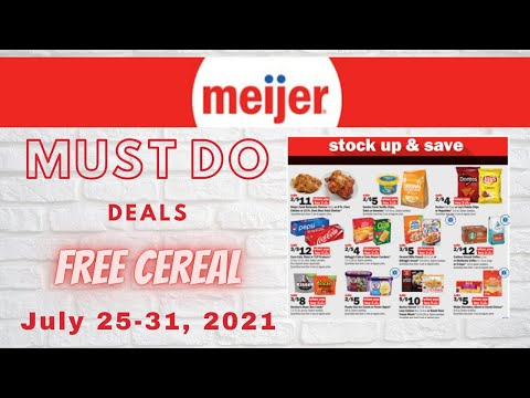 *WOW* Meijer *MUST DO* Deals for 7/25-7/31   TONS OF FREE CEREAL