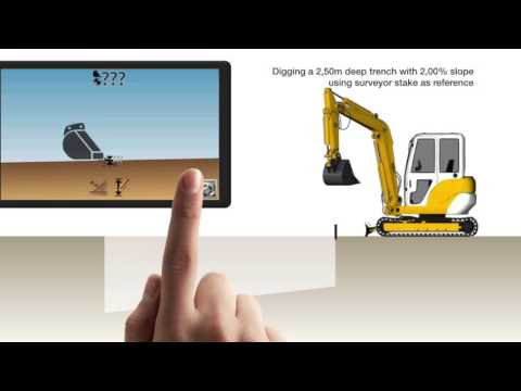 IDig Touch System - Using Machine Control To Dig A Slope