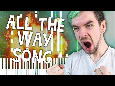 All the Way  Jacksepticeye Song  Schmoyoho Synthesia Tutorial For Two Pianos