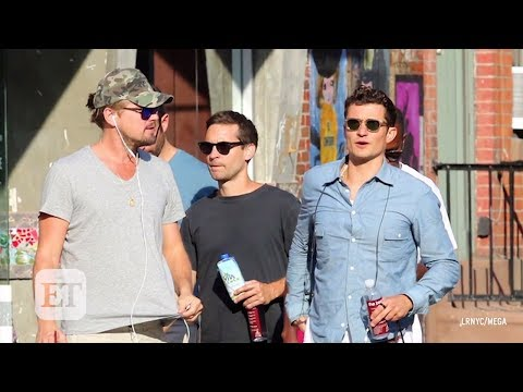 Leonardo DiCaprio, Orlando Bloom, and Tobey Maguire Take a Bro Stroll in NYC