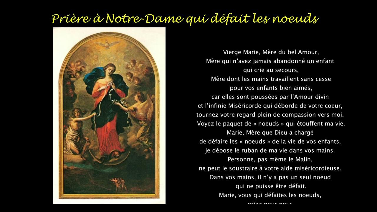 Top Prière à Notre-Dame qui défait les noeuds - YouTube FL76