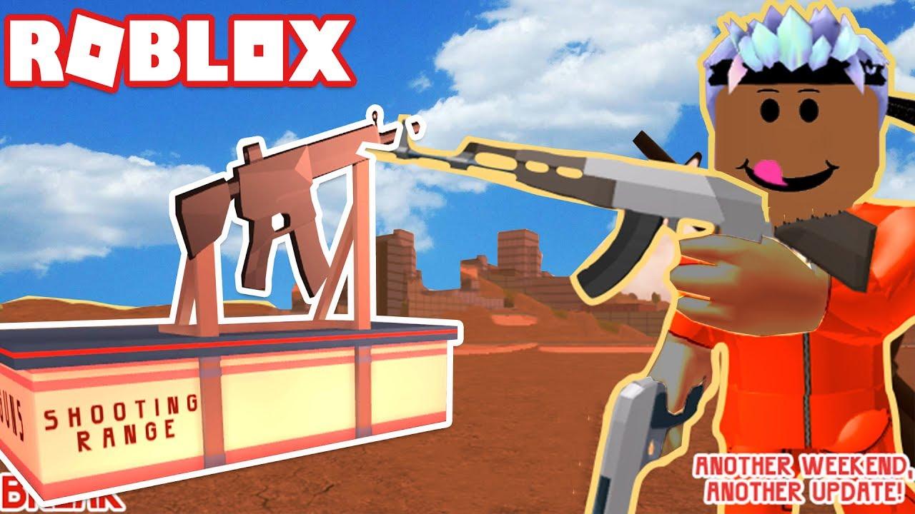 Shooting Update: AWESOME NEW GUN & SHOOTING RANGE IN JAILBREAK! ROBLOX