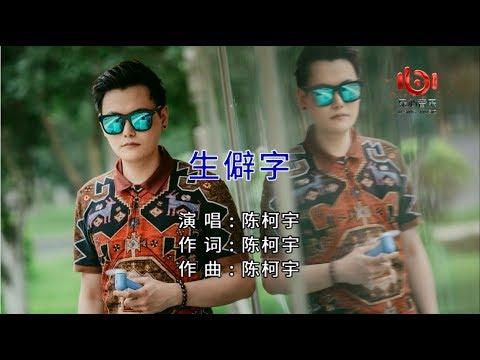 抖音熱門歌曲【陳柯宇 - 生僻字】(高清1080P)KTV拼音歌詞版