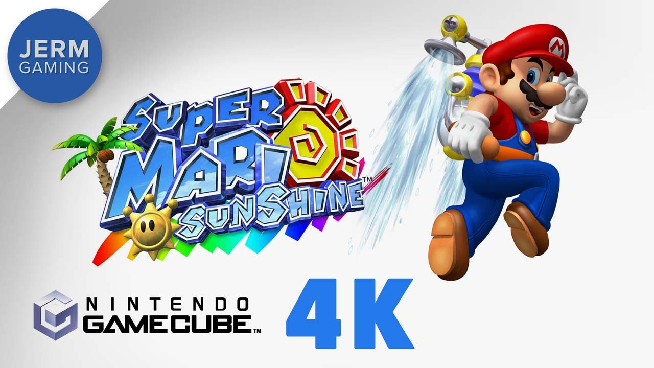 Super Mario Sunshine at 4K on Dolphin Emulator 5 0