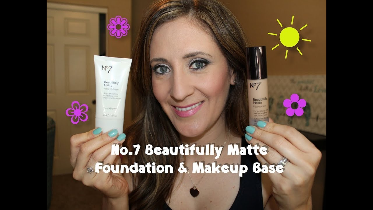 No7 Beautifully Matte Foundation & Makeup Base - Review/Demo - YouTube