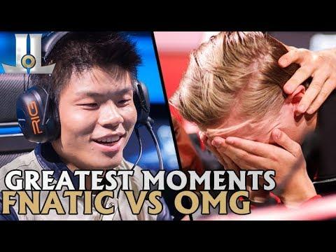Greatest LoL Moments: Fnatic vs OMG | Lol esports