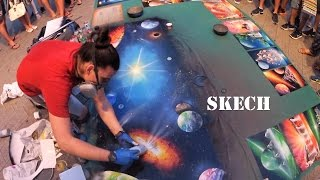 GIANT GALAXY Spray paint 3D picture