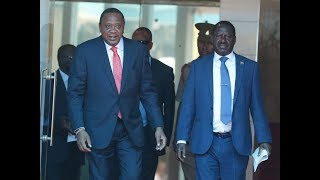 "Angry President Uhuru shouts, ""Raila too is a Kenyan"" 