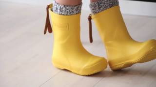 Quality childrens rain boots from bisgaard (92001.999 - 80 yellow)