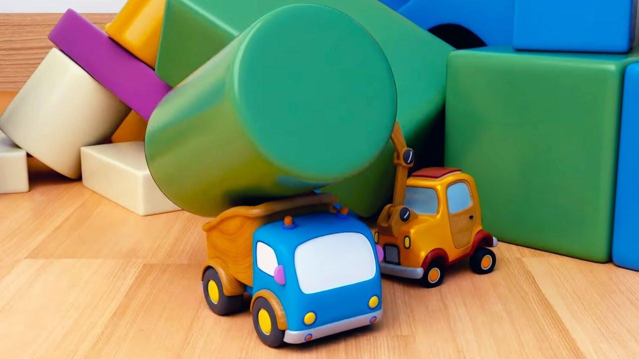 Машинки Мокас 🚕 Прятки 🚙 Развивающие мультики для детей и малышей 🚗
